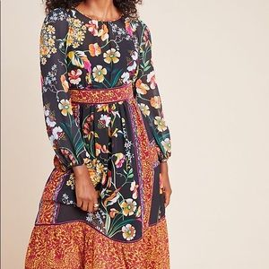 NWT Anthropologie Adair Floral Dress sz2